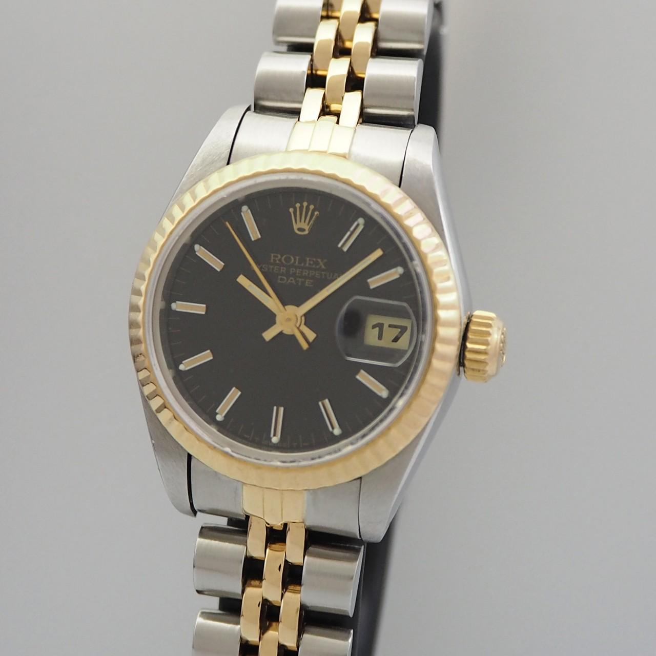 Rolex Oyster Perpetual Lady 6917 Stahl/Gold Saphir, Rolex Box 1985