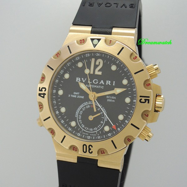 Bulgari Diagono Scuba GMT SD38 G GMT -Gold 18k/750