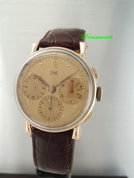 Vintage Solvil Chronograph -Rosegold 18k/750