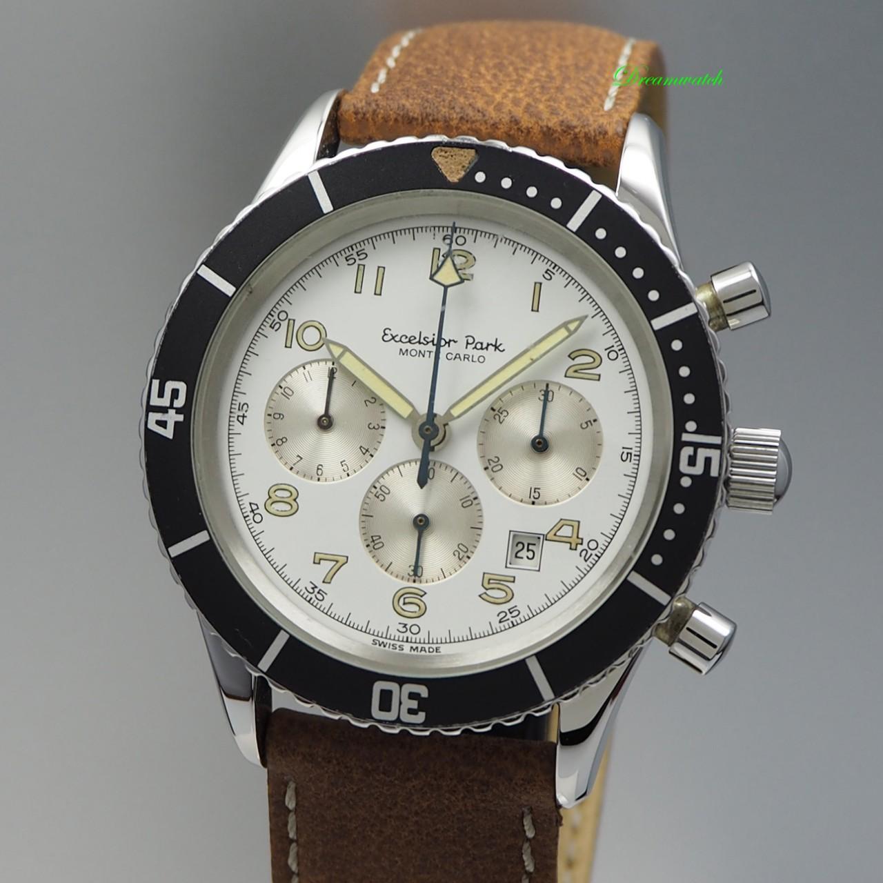 Excelsior Park Monte Carlo Vintage Chronograph Handaufzug Cal.7740