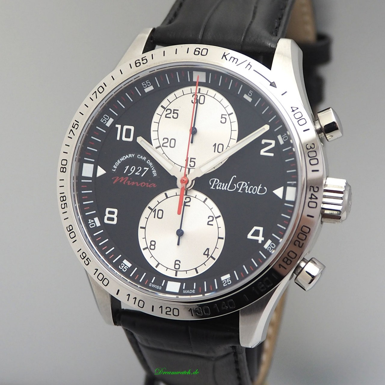 "Paul Picot Gentleman Chronograph ""Minoia Racing 1927"" Limited Edition 100 NEU, B & P"