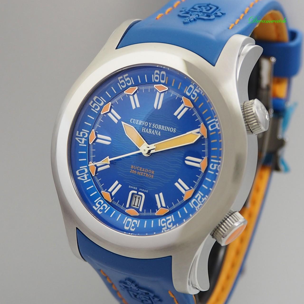 Cuervo Sobrinos Robusto Buceador BLUE 2806.1BIA NEU Box+Papiere