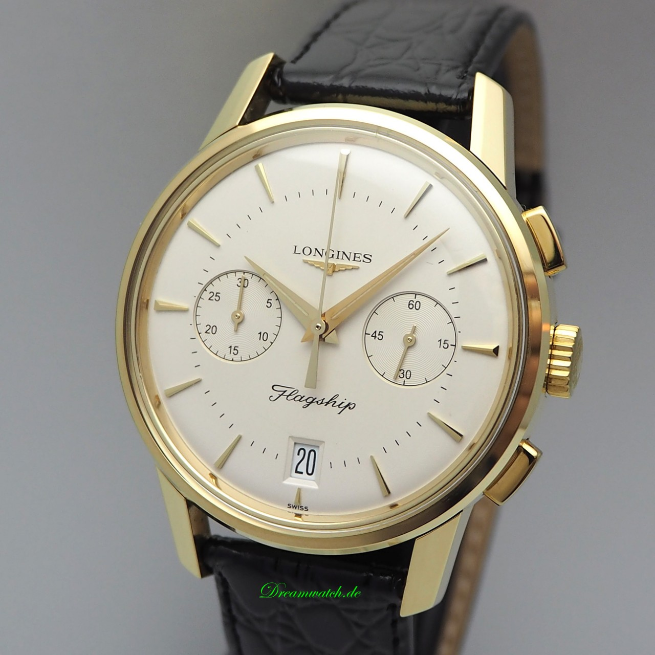 Longines Heritage Flagship Chronograph Automatik Date / Gold 18k/750