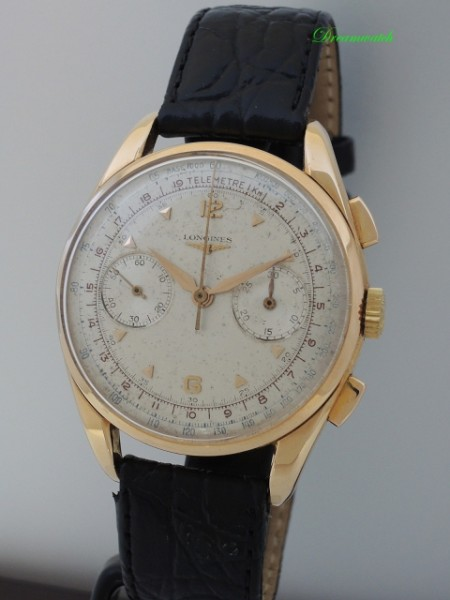Longines Chronograph CH30 Vintage orig. ZB -Gold 18k/750