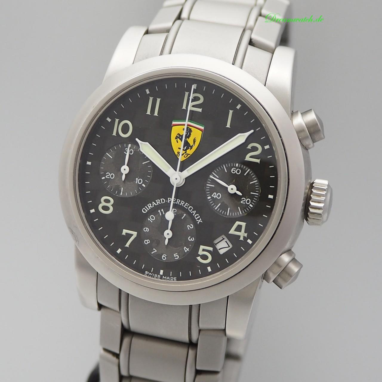 Girard Perregaux Ferrari Chronograph Carbon Ref.: 8020 Stahl/ Stahl
