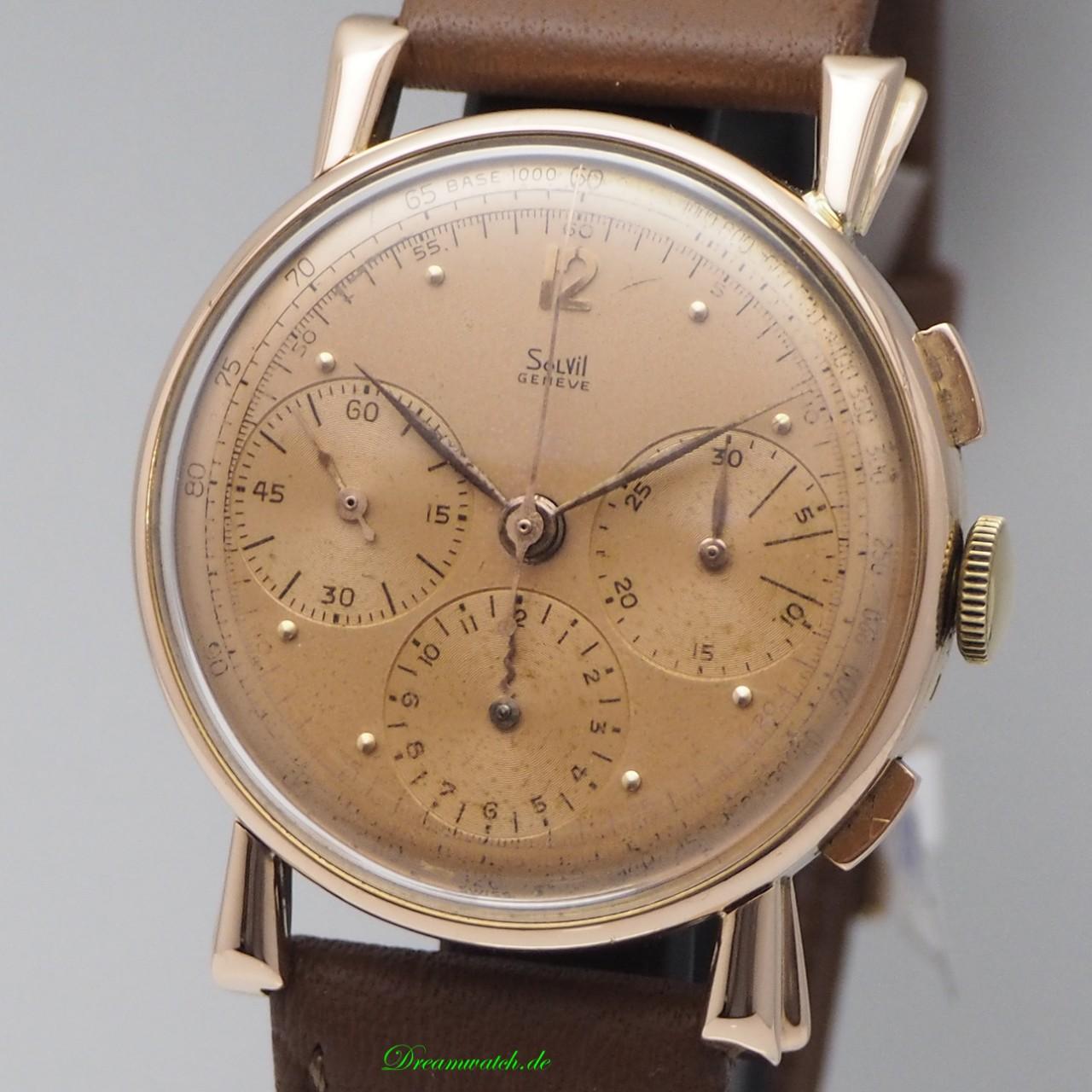 Vintage Solvil Chronograph Valjoux 72 -Rosegold 18k/750