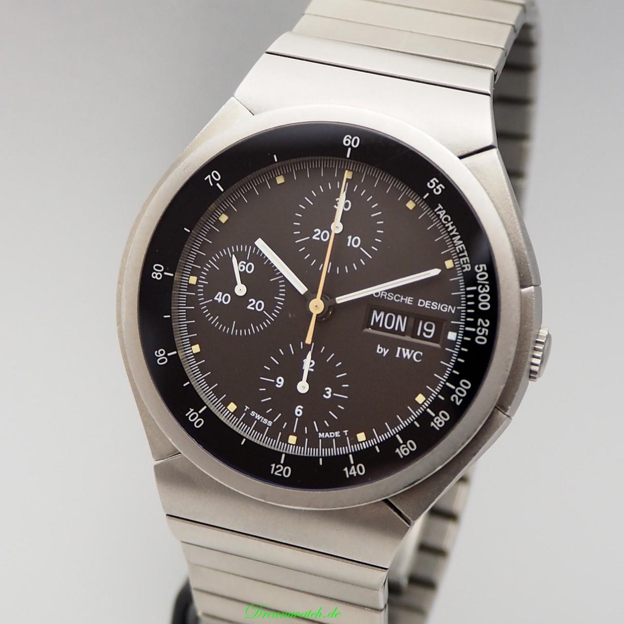 IWC Porsche Design Chronograph -Day-Date Titan 3702 Box+Papiere