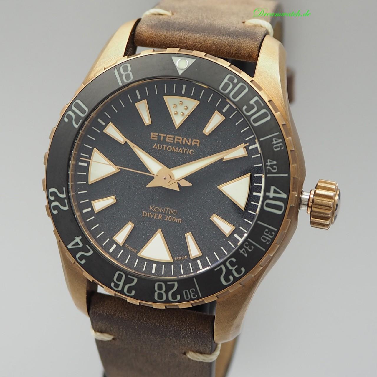 Eterna Kontiki DIVER Bronze Manufacture Limited Editon 300 / 1291.78.49 , Box+Papiere wie neu