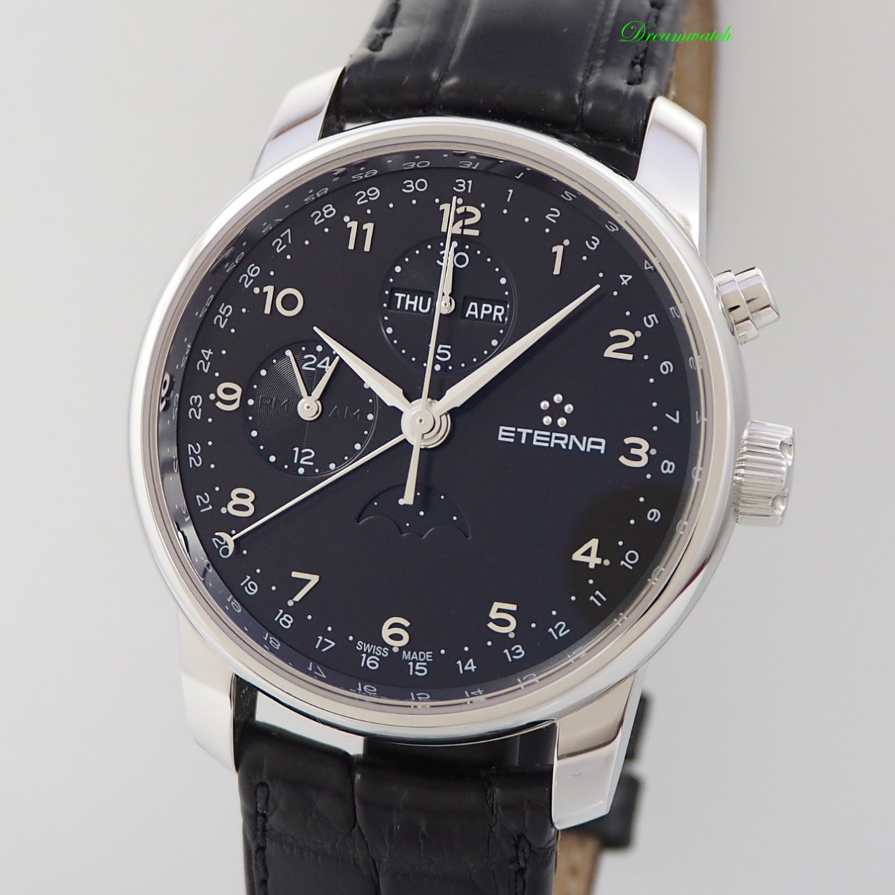 Eterna Soleure Calendar Moon Chronograph Ref.: 8340.41 Box+Papers