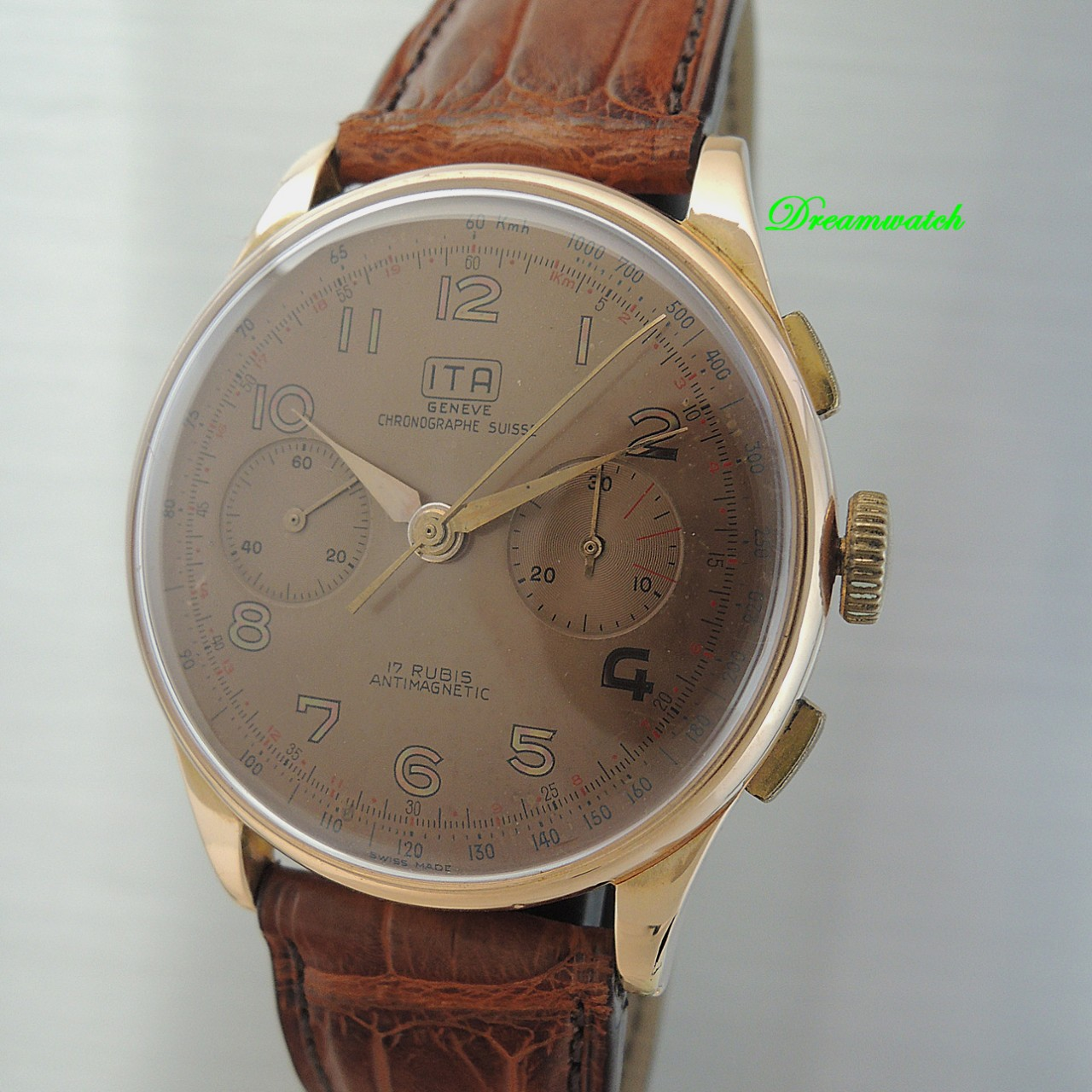 ITA Chronograph 18 k Rose Gold