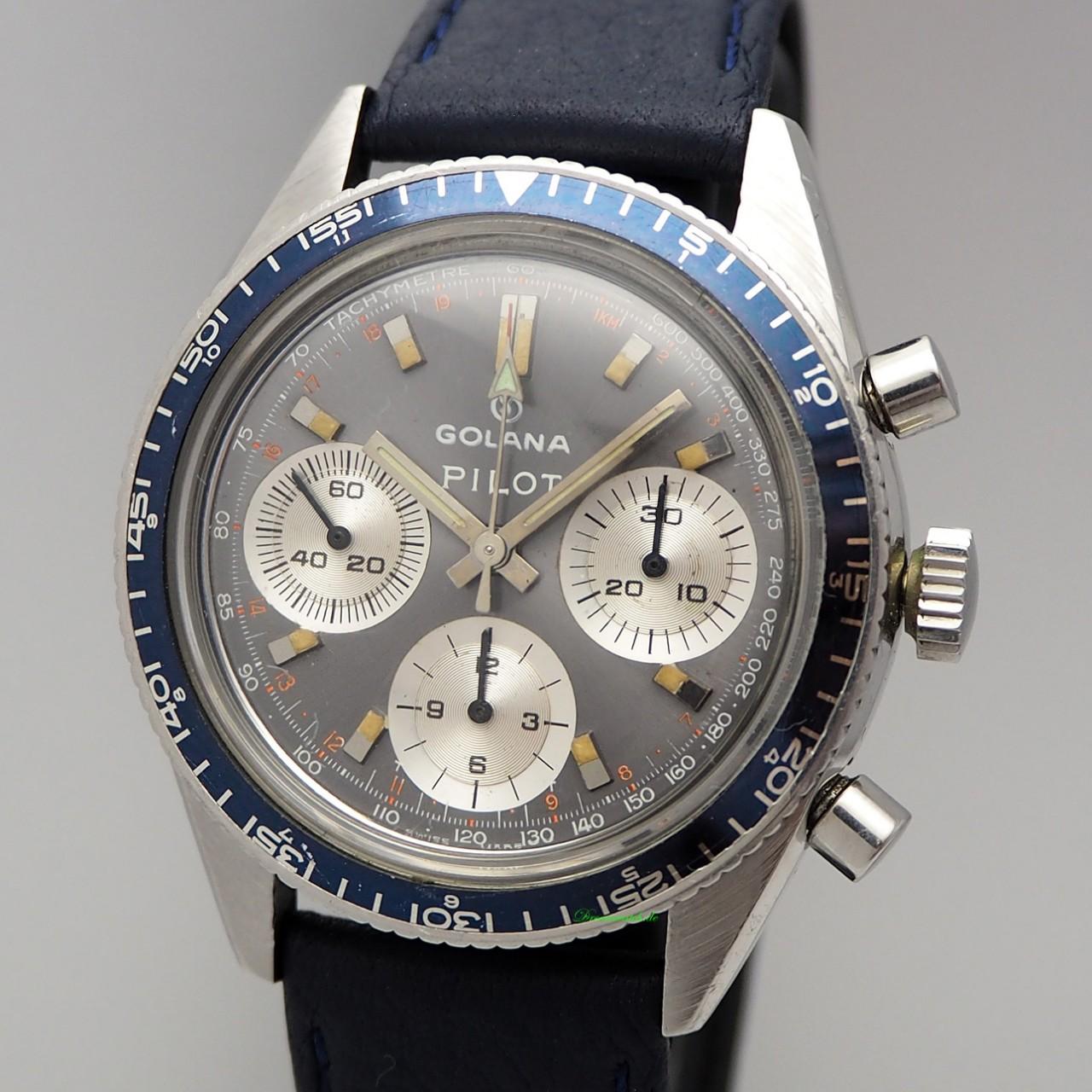 Golana Pilot Chronograph Valjoux 726 very rare