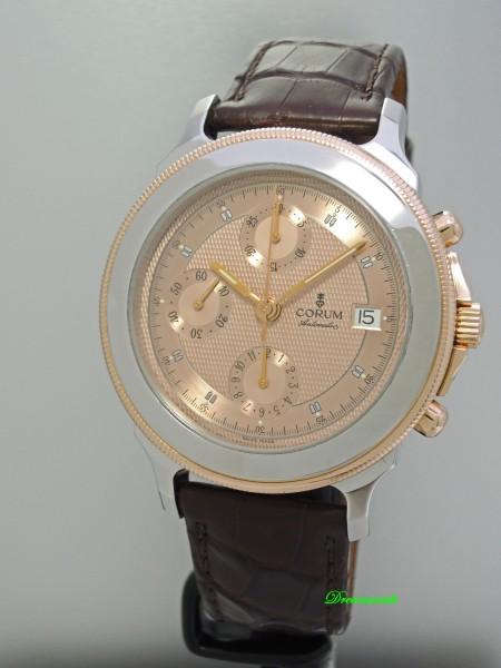 Corum Les-Temps Chronograph Stahl-Rosegold 18k/ 750