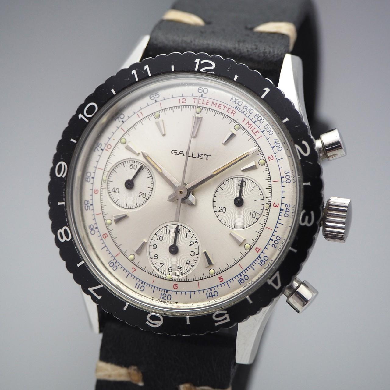 Gallet MultiChron Chronograph Valjoux 726