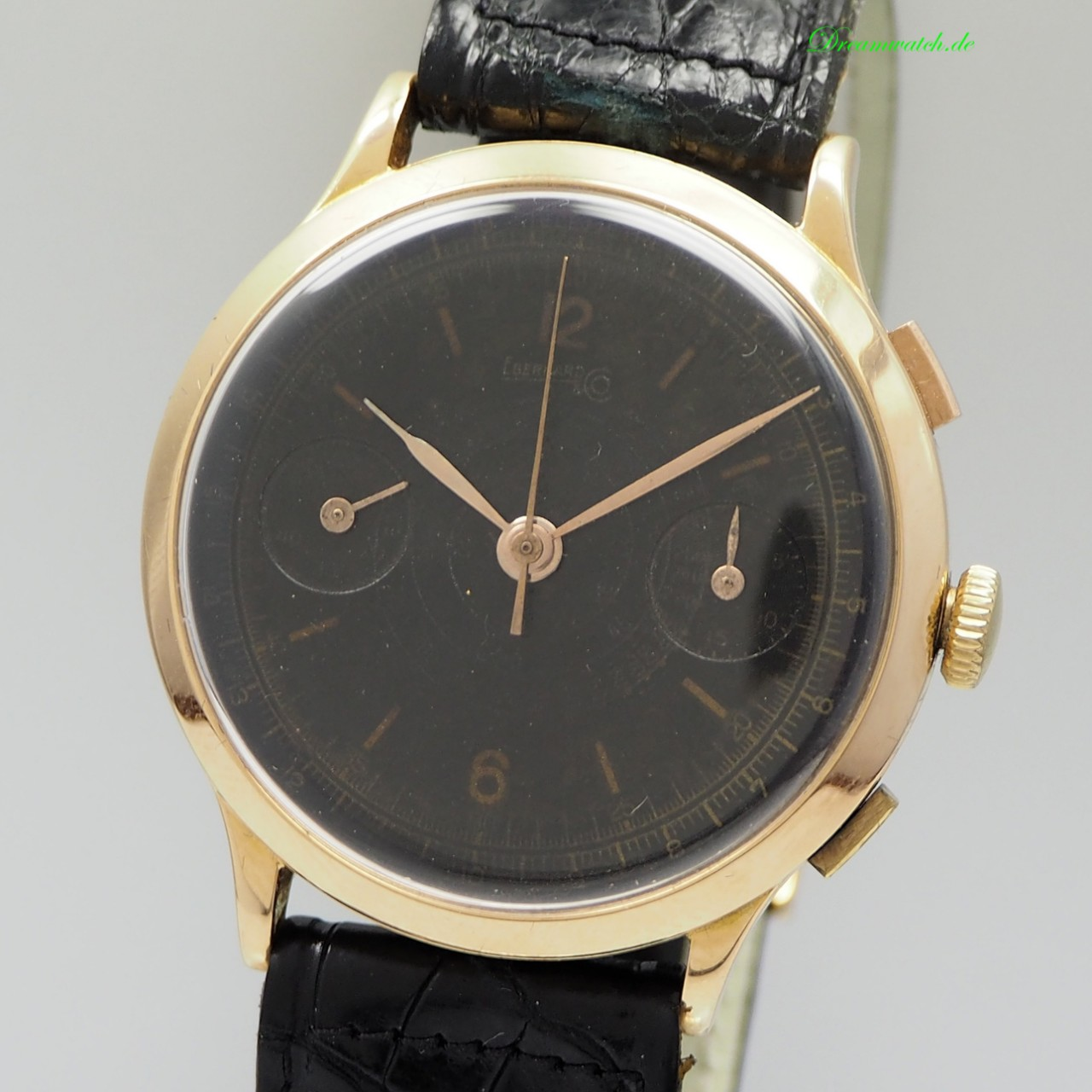 """Eberhard & Co Extra Fort Chronograph Vintage """"Ghost-dial """" Cal. 65 -Gold 18k/750"""