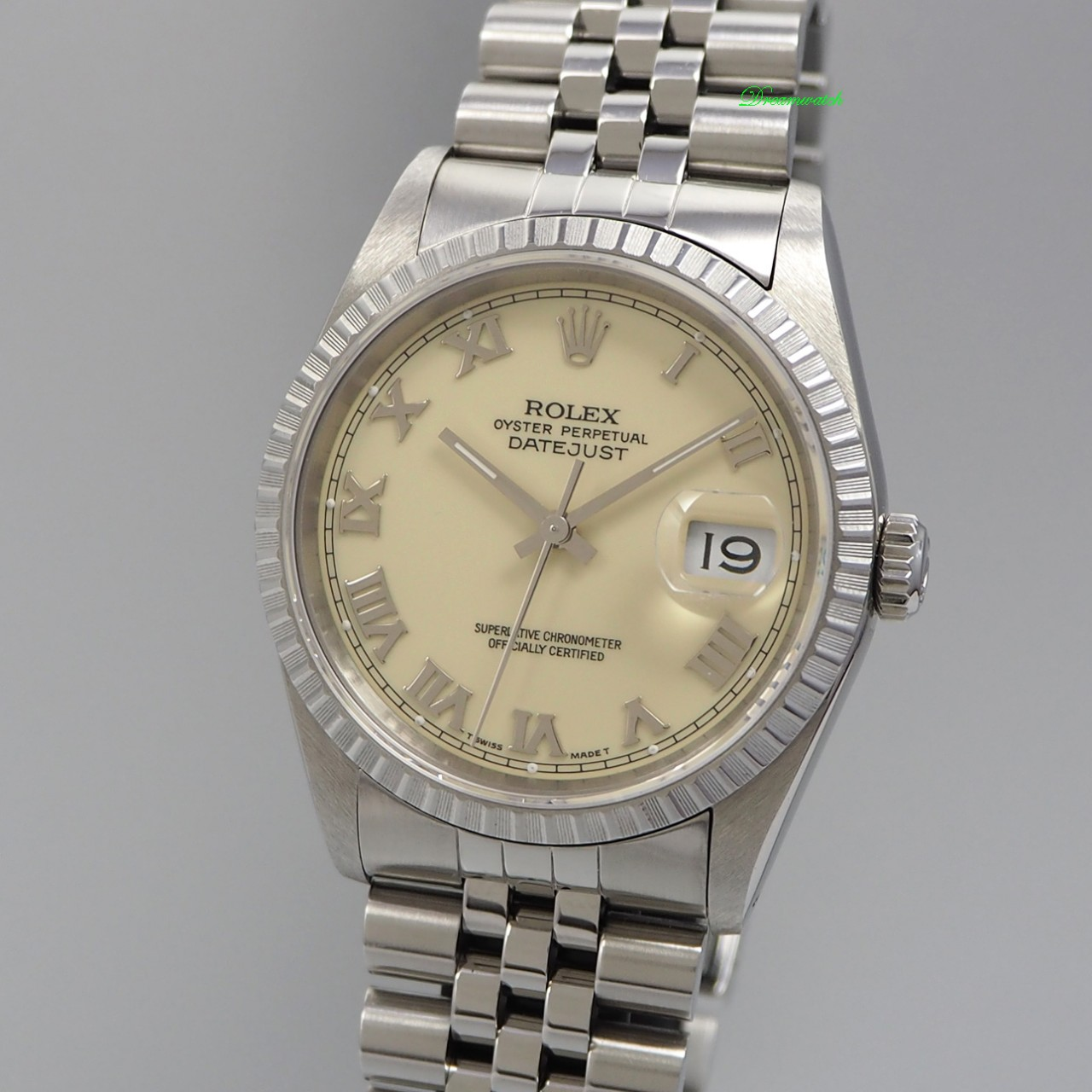 Rolex Oyster Perpetual Datejust 16220 Stahl/ Stahl, Box + orig. Papiere