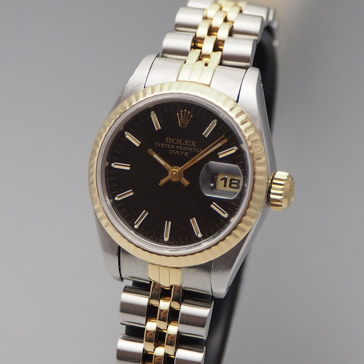 Rolex Oyster Perpetual Datejust Lady -Stahl/Gold -Saphir, Rolex Box 1985