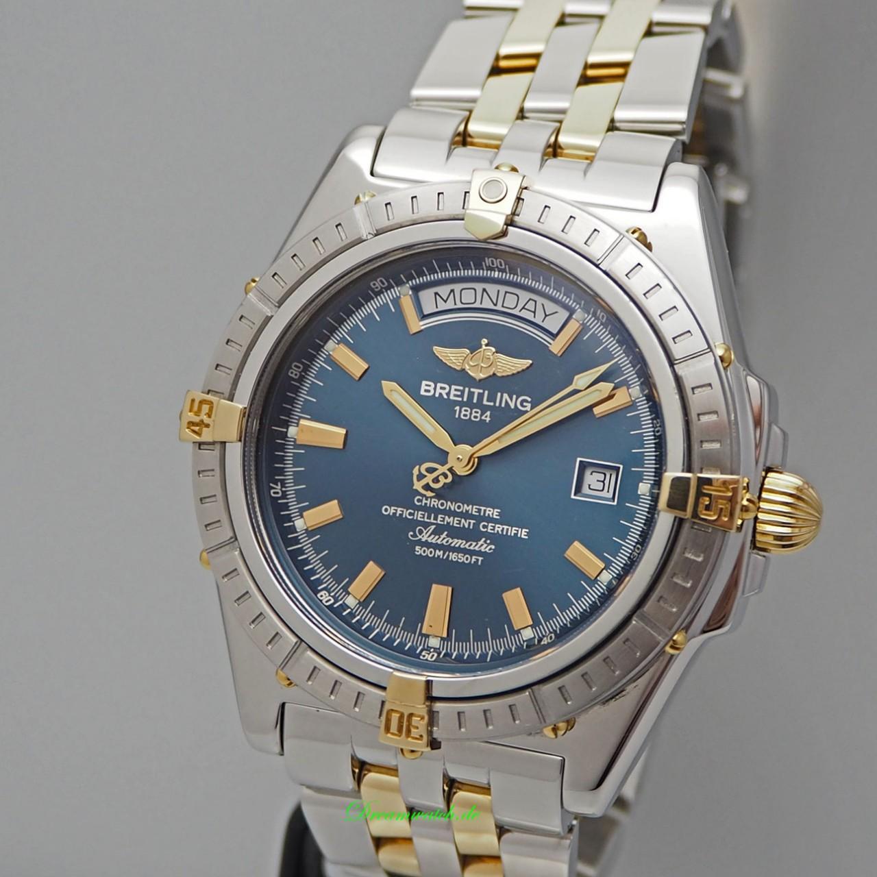 Breitling Headwind Automatik Chronometre B45355, Stahl/Gold, B&P