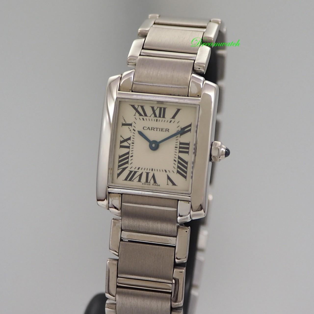 Cartier Tank Francaise 18k/ Gold, Ref.: 2403, Box+Papiere