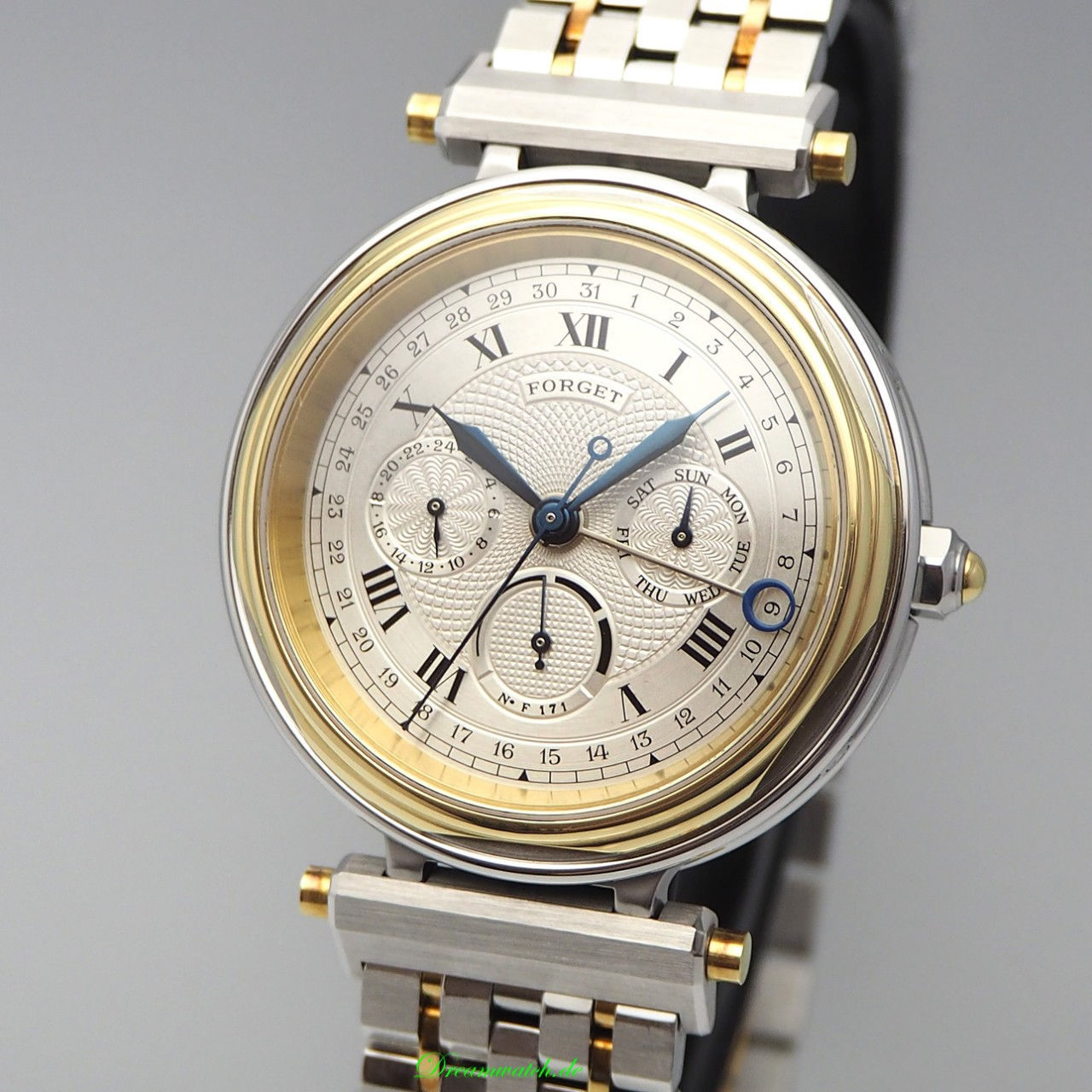 Forget Chronometre Full Calender GMT, F-Series, Box+Papiere