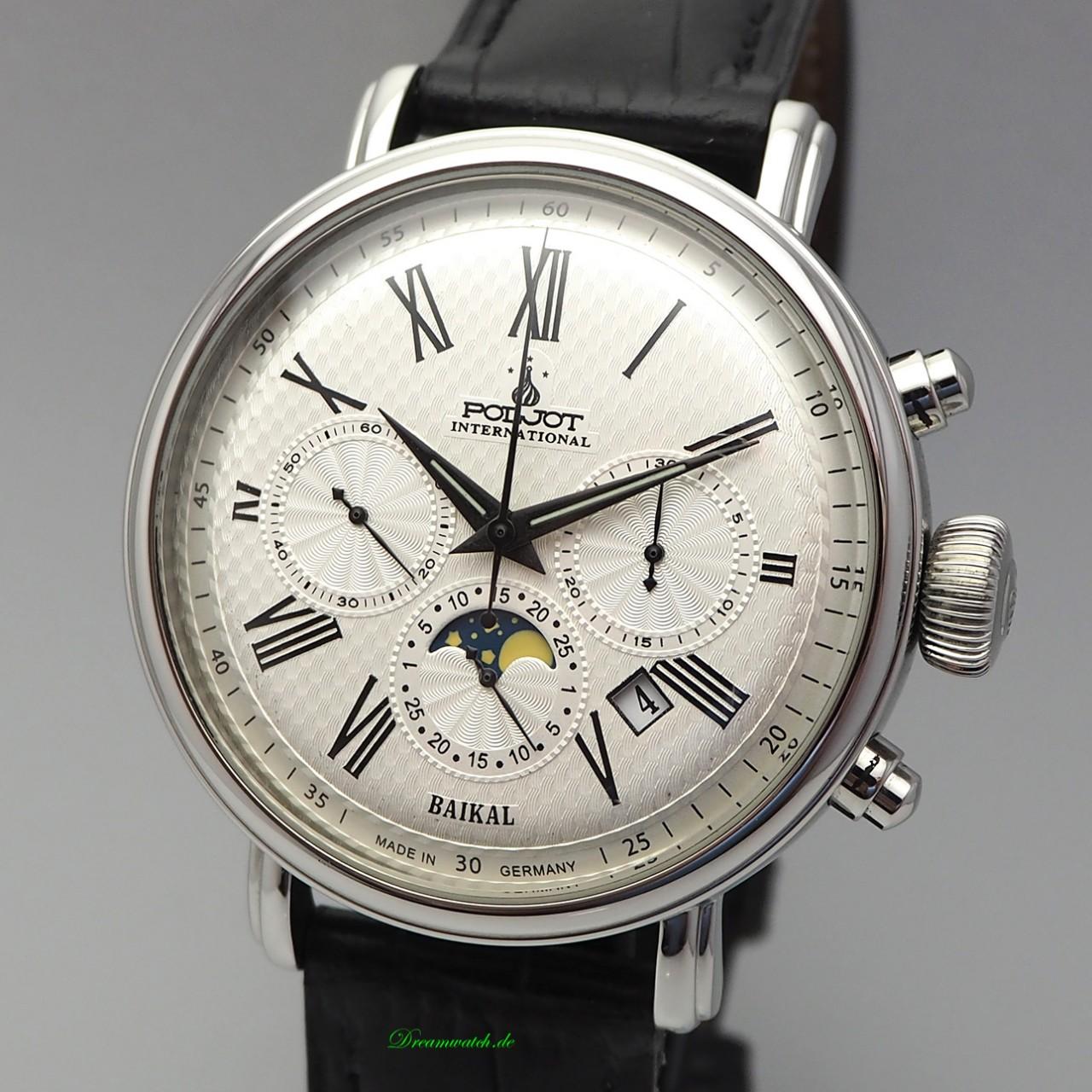 Poljot International BAIKAL Vollkalender-Chronograph Handaufzug