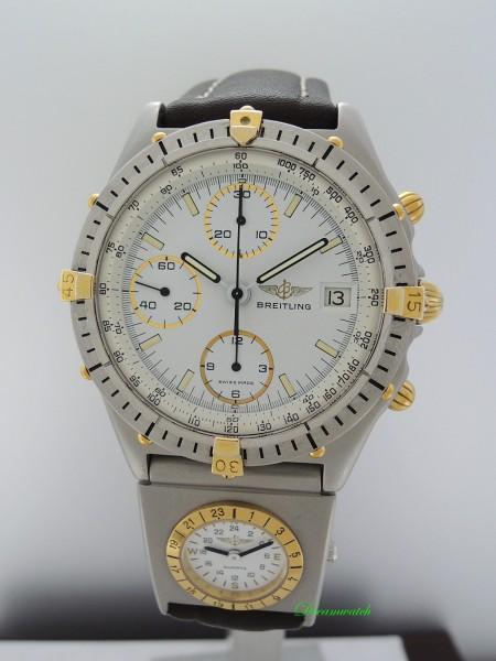 Breitling Chronomat Chronograph UTC -Stahl-Gold/ Leder 81950