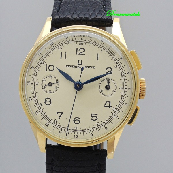Universal Geneve Vintage Chronograph 18k Gold