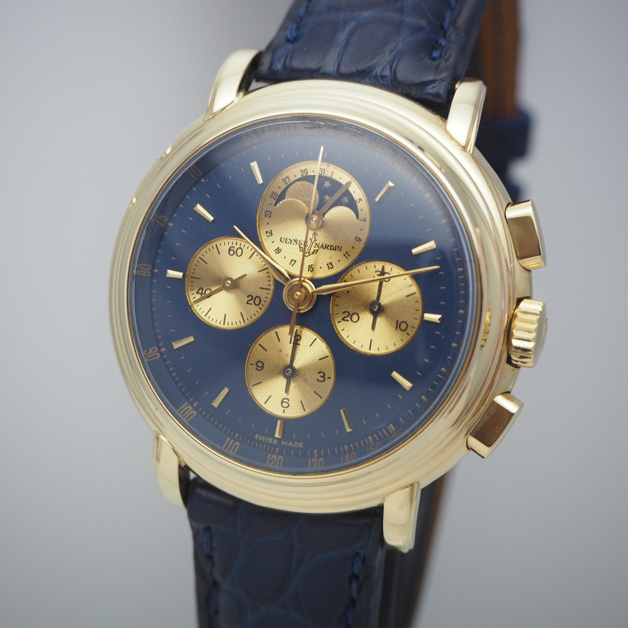 Ulysse Nardin Chronograph Calendar Moon, Limited Edition, Gold 18k/750