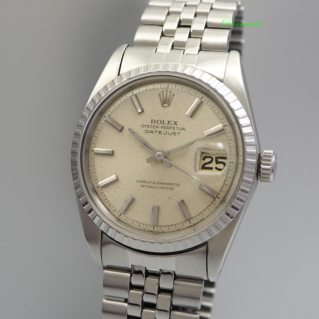 Rolex Oyster Perpetual Datejust 1603 from 1970 Stahl/ Stahl -serviced
