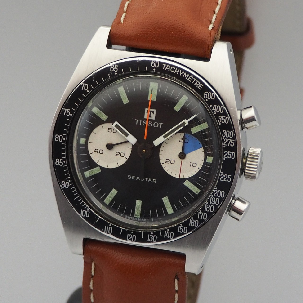 Tissot Seastar Chronograph Vintage Lemania -Stahl/ Leder