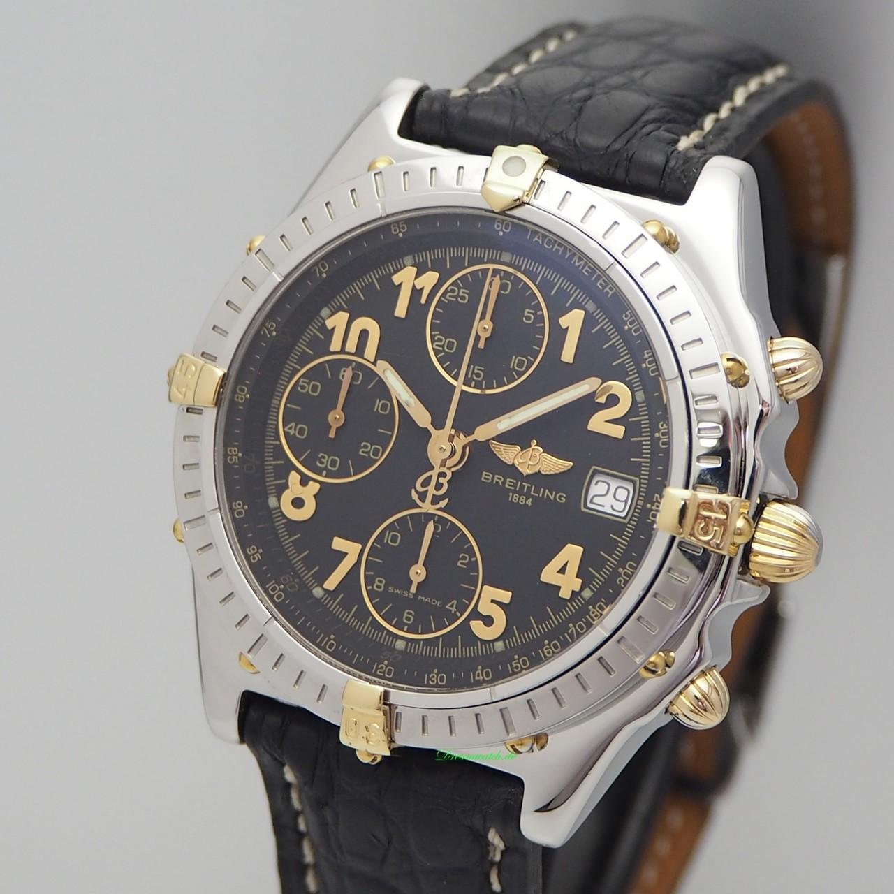 Breitling Windrider Chronomat Chronograph Stahl/ Gold, B13050.1, Box+Papiere