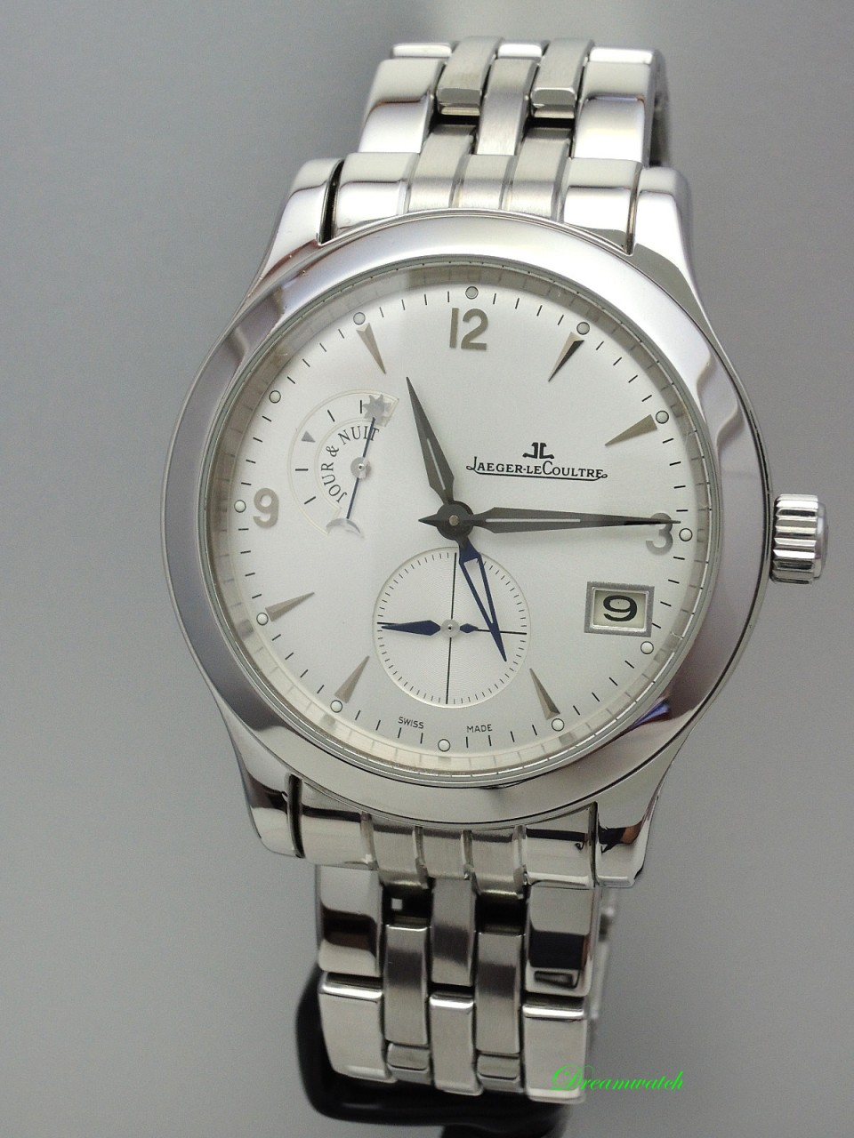 Jaeger LeCoultre Master Control Home time -Stahl/Stahl -Box+Papiere