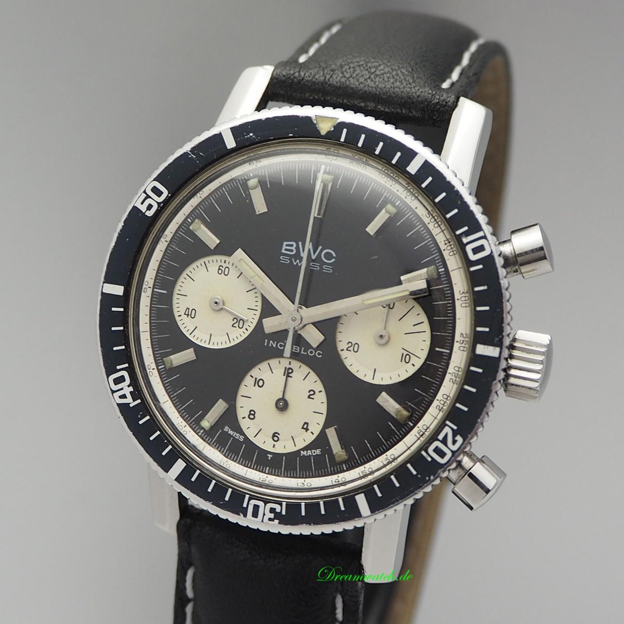 "BWC Swiss Vintage Chronograph Valjoux 72 ""Panda"" -very rare"